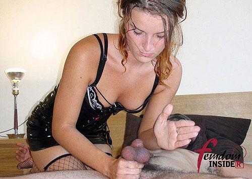 Ballbusting Handjob Slave