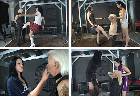 Two Mistress Ballbusting
